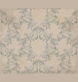 baroque ornament pattern old paper vector image vector image