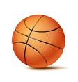 basketball ball sport game fitness symbol vector image