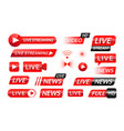 broadcast icons web and mobile video translation vector image
