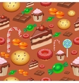 Candy sweets and cakes seamless pattern vector image vector image