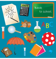 Classroom Items vector image vector image