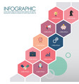 colorful hexagon presentation template vector image