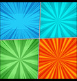 comic book page backgrounds set vector image vector image