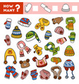 counting game for children count how many scarves vector image vector image