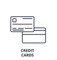 credit cards line icon concept credit cards vector image vector image