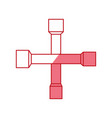 cross wrench tool vector image vector image