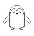 cute line icon penguin cartoon vector image vector image
