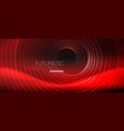 dark abstract background with glowing neon circles vector image