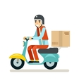 Delivery Courier Motorcycle Scooter Box Symbol vector image