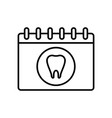 dental appointment icon vector image vector image