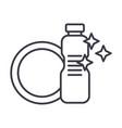 dish washingdishwashing detergent line vector image