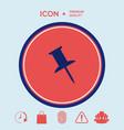drawing pin icon vector image vector image
