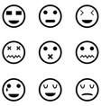 emotion icon set vector image vector image