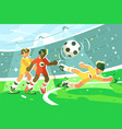 exciting football match vector image
