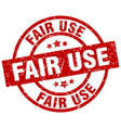 fair use round red grunge stamp vector image vector image