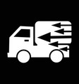fast delivery car icon design vector image