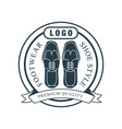 footwear shoe style premium quality logo vector image vector image