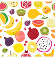 fruits pattern fruit seamless print natural cute vector image