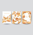 gold organic shapes poster template vector image vector image
