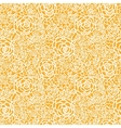 Golden lace roses seamless pattern background vector image