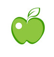 green apple flat flat icon vector image vector image