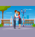 greeting people composition vector image vector image