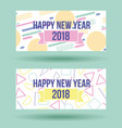 happy new year 2018 card greeting celebration vector image vector image