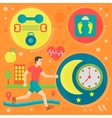 Healthy life flat concept vector image vector image
