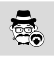 hipster style bearded retro design vector image vector image
