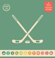 hockey icon symbol vector image