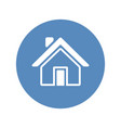 home icon placed in blue circle vector image vector image