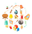 homes things icons set cartoon style vector image