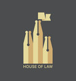 house of law logotype vector image vector image