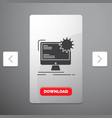 internet layout page site static glyph icon in vector image vector image