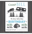 Invitation or Brochure for birthday in the camp on vector image vector image