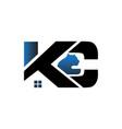 k c construction building logo designs vector image
