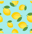lemon and sliced lemon pattern background vector image