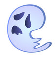 little cartoon a ghost isolated on a white vector image