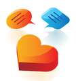 Love conversation icons vector image