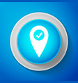 map pointer with check mark icon isolated vector image vector image