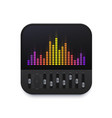 music sound equalizer interface icon audio wave vector image