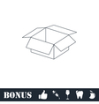 Open box icon flat vector image vector image