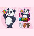 panda mascot design for your business or logo vector image vector image