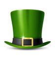 patricks day leprechauns green hat vector image