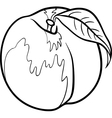 peach for coloring book vector image