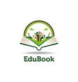 playful book open logo templateprint vector image vector image
