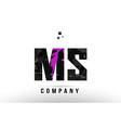 purple black alphabet letter ms m s logo vector image vector image