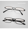 Realistic metal and plastic framed glasses set vector image