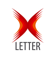 red logo Abstract letter X vector image vector image
