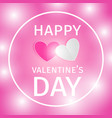 romantic background happy valentines day vector image